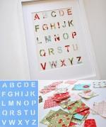 Patchwork alphabet…so cute!