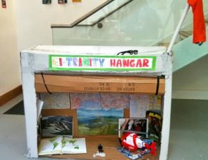 Trinity's Helicopter Hanger with roller door
