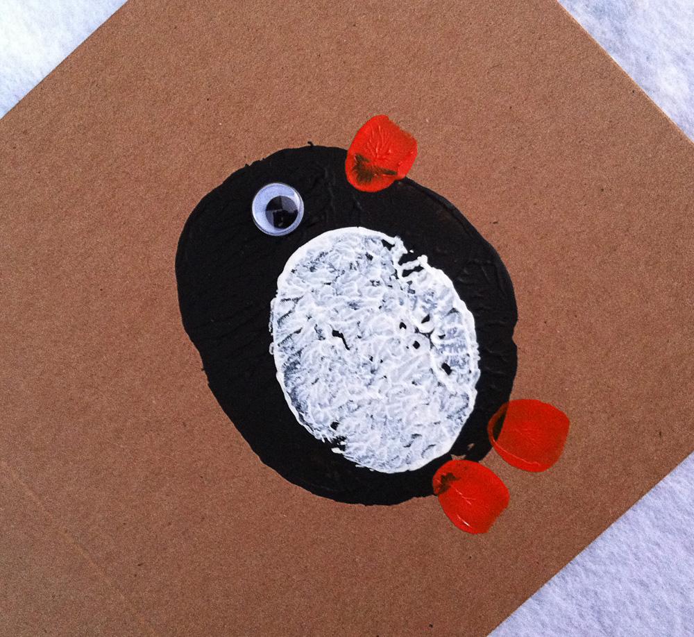 MollyMooCrafts Penguin Potato Print Cards - MollyMooCrafts