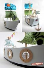 "Cardboard Toys ""make it more piratey mom"""
