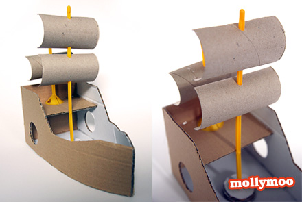 MollyMooCrafts Toilet Roll Sails