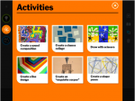 Art Lab for iPad – choose an activity