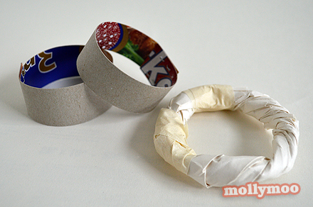 Mollymoocrafts papier mache bracelets for How to make paper mache jewelry