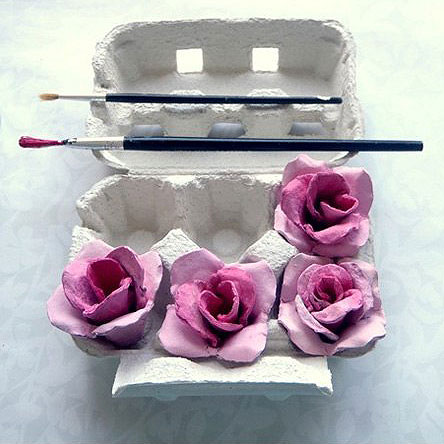 egg carton flower crafts