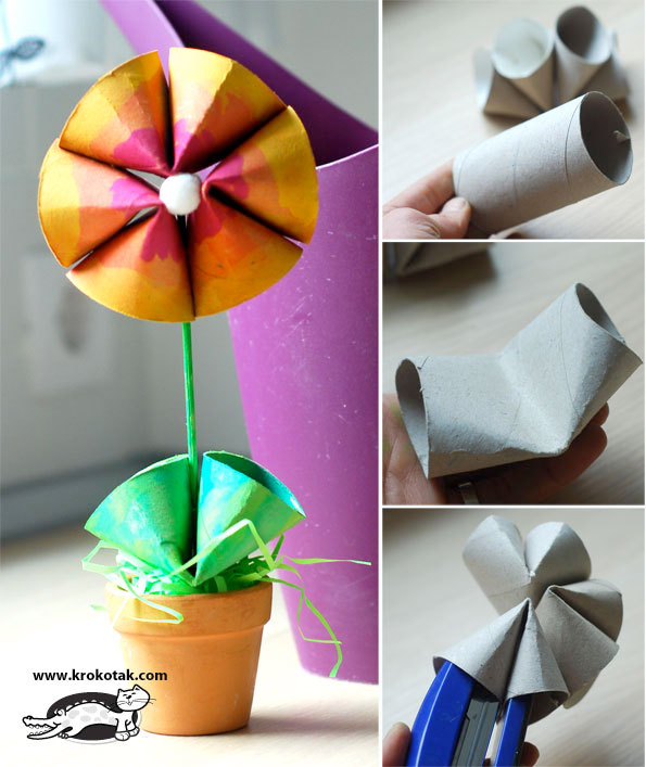 Mollymoocrafts Toilet Roll Flowers Kids Crafts Find Of The Week