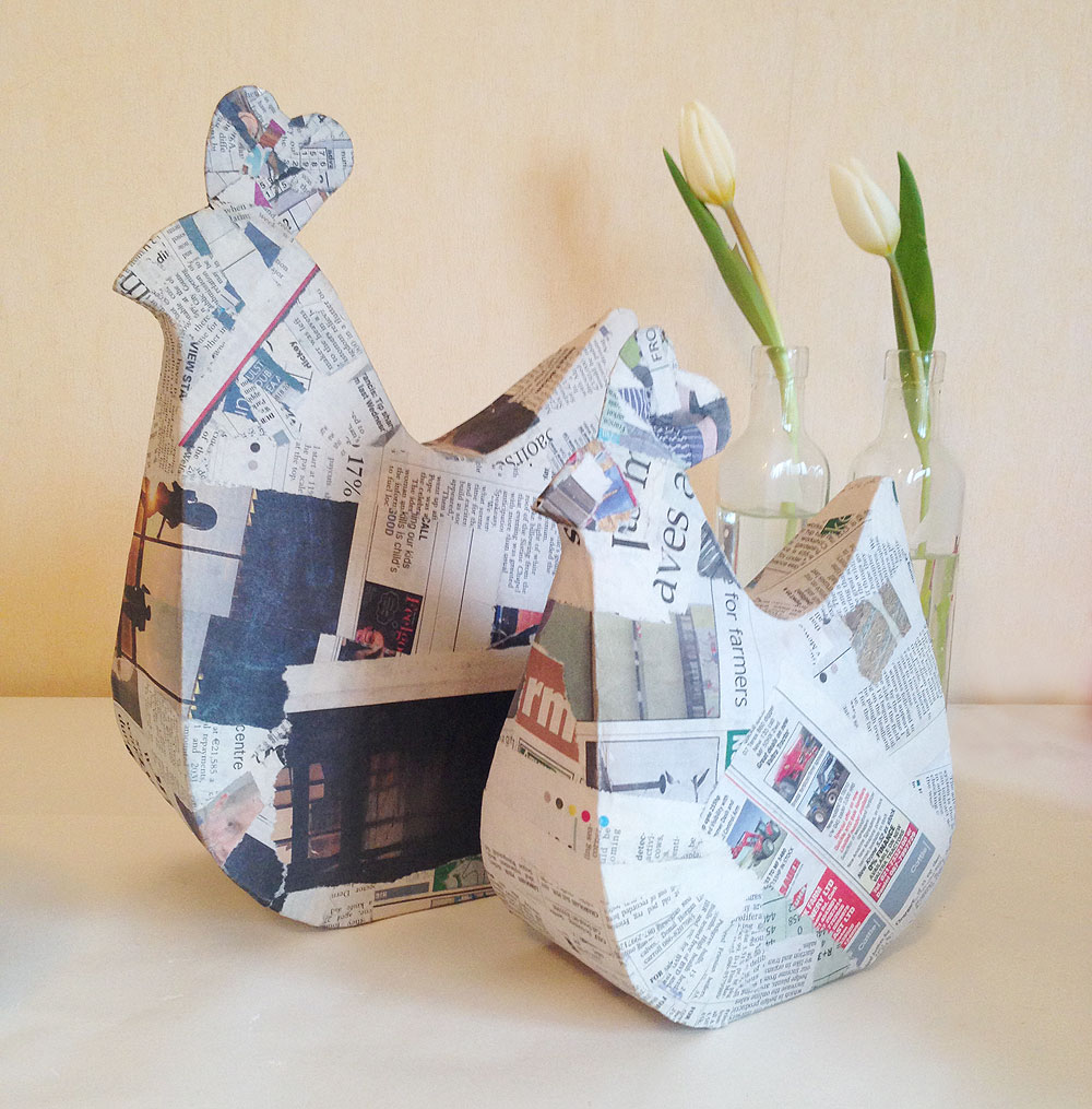 mollymoocrafts papier mache hens mollymoocrafts. Black Bedroom Furniture Sets. Home Design Ideas