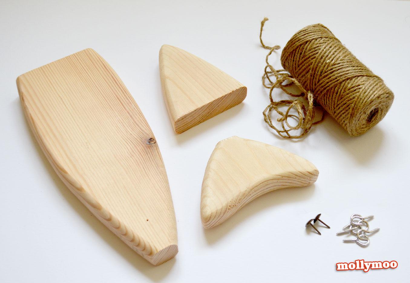 Elegant Wooden Fish Craft Kits