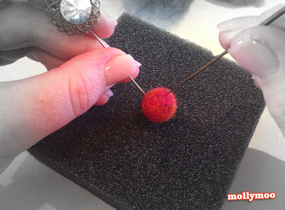 Mollymoocrafts Needle Felting Beads For Garlands And