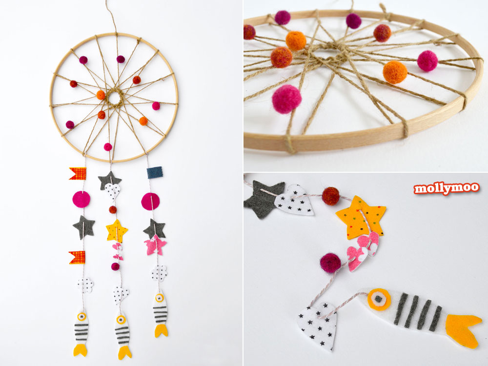 How To Draw A Simple Dream Catcher MollyMooCrafts How to make A Dream Catcher 33