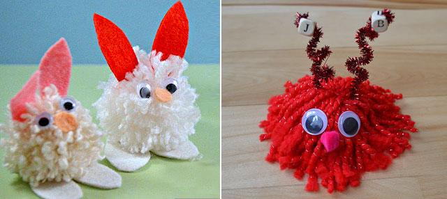 how to make pom pom creatures