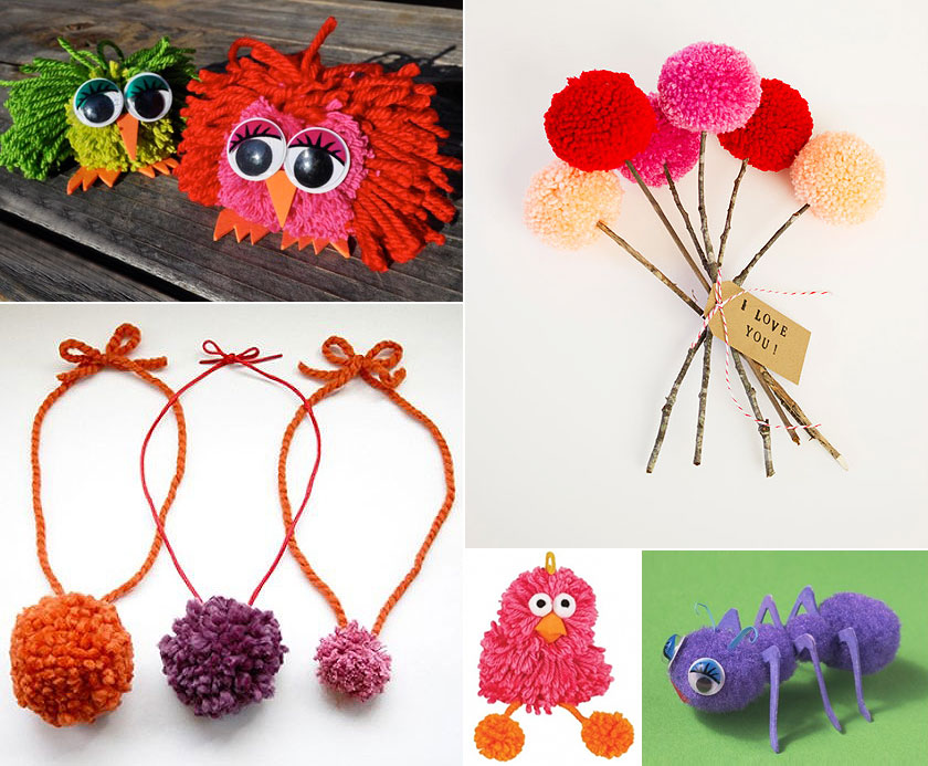mollymoocrafts for the love of pom poms crafts for kids