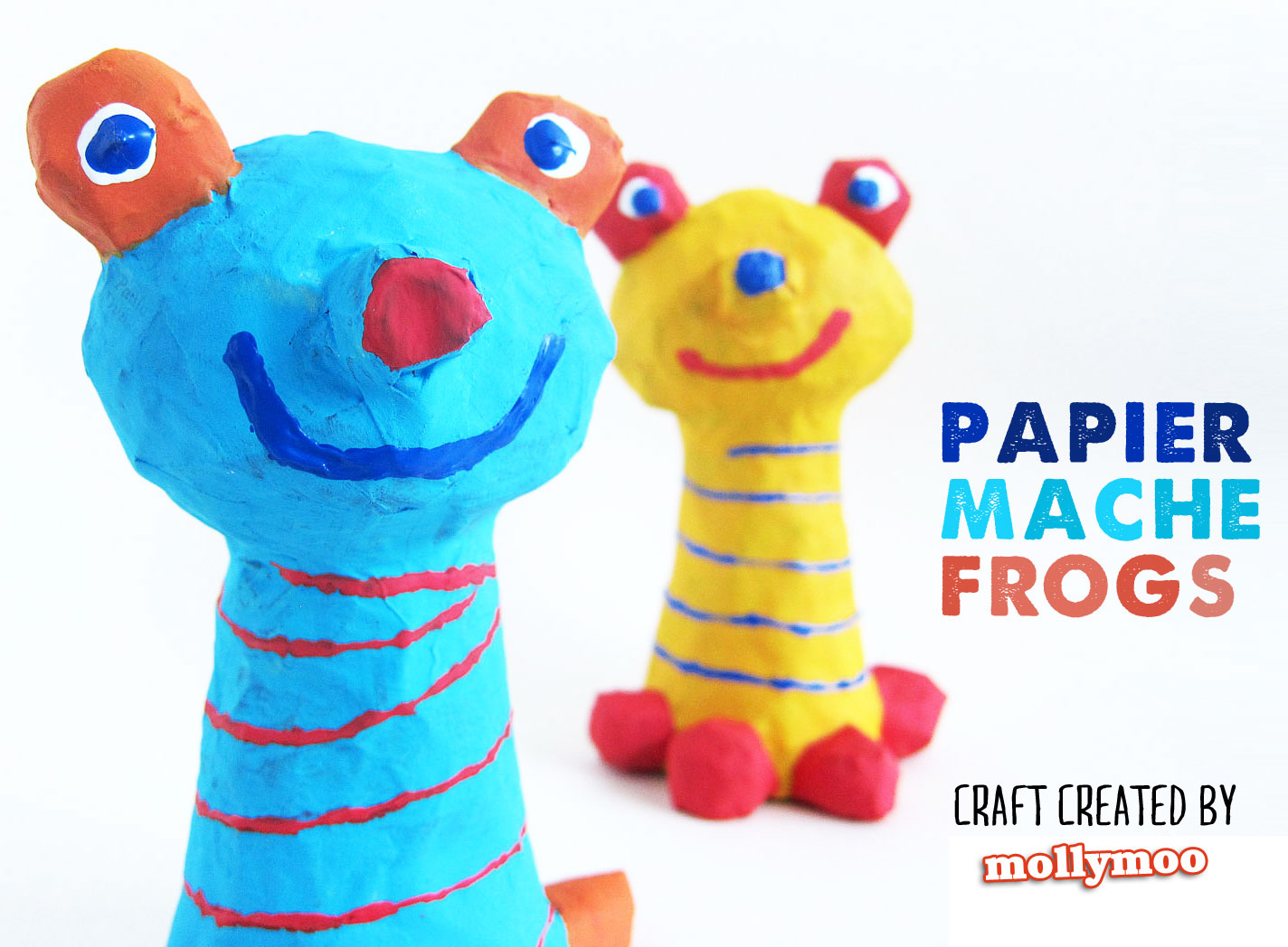 mollymoocrafts papier mache crafts for kids frog to