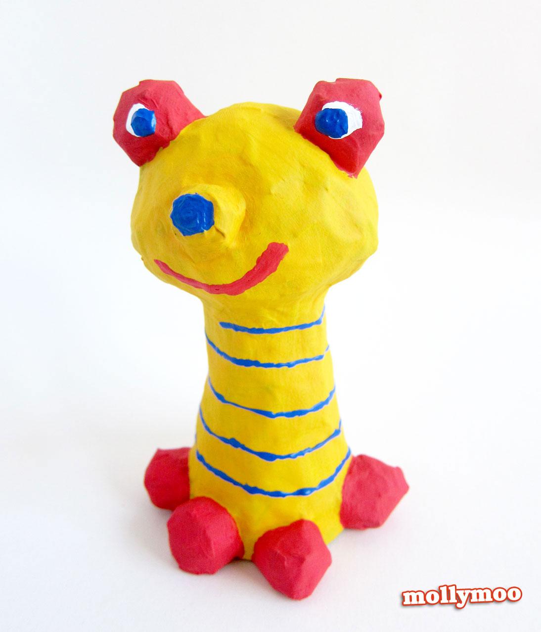 papier mache frogs craft for kids