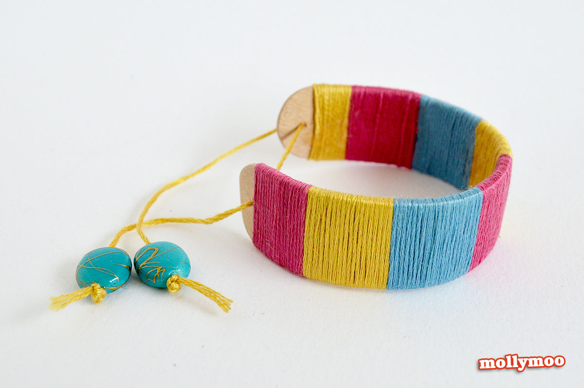 yarn-wrapped-bracelet