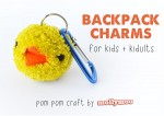 Pom Poms – Backpack Charms