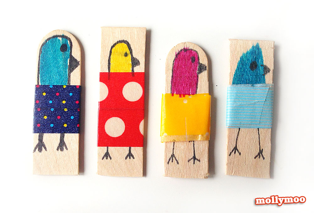 Mollymoocrafts Quick Craft Craft Stick Dolls