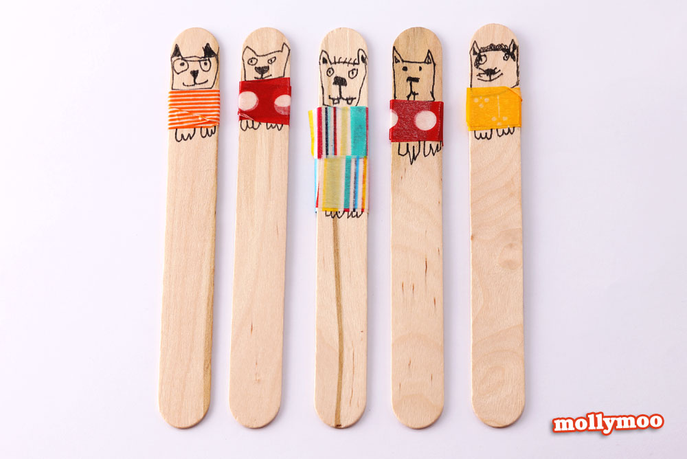 puppies-craft-stick-dolls