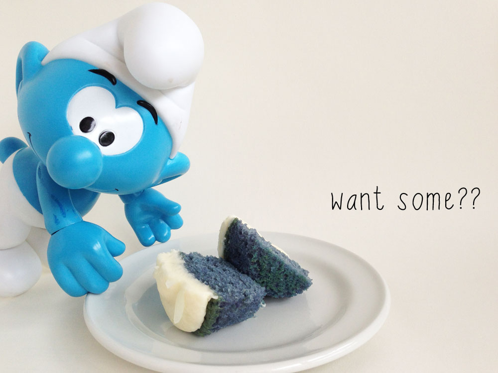Mollymoocrafts Quick Post Smurf Cupcake Recipes