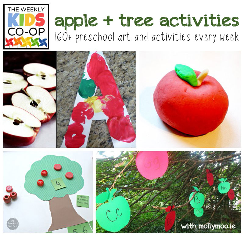 Mollymoocrafts Preschool Art Activities Apple Tree Themed