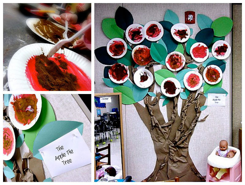 preschool apple and tree activity