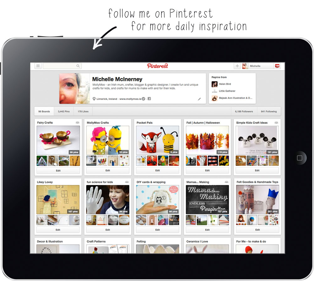 follow mollymoo on pinterest
