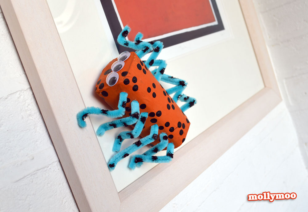 cardboard spider craft