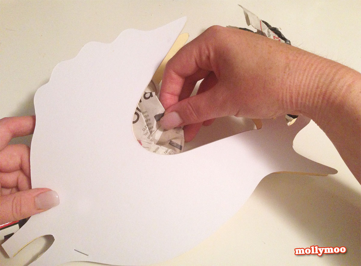 papier mache hen tutorial