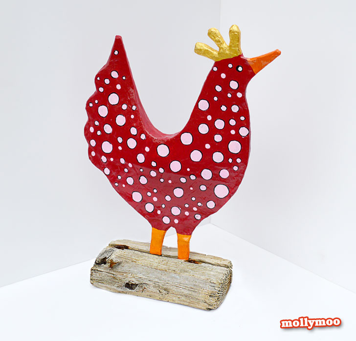 craft tutorial, papier mache hen