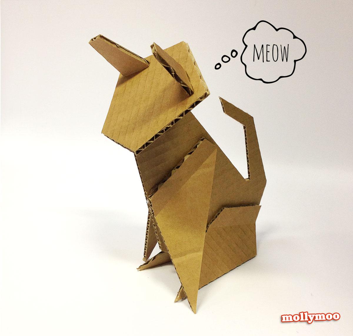 cardboard-cat