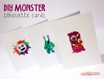 DIY Monster Cards with free stencils