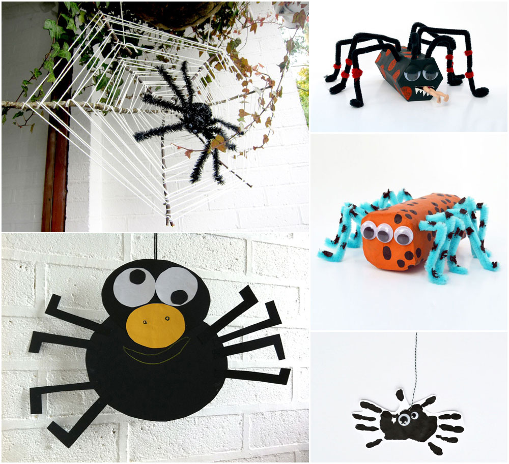 spider crafts for kids halloween mollymoo - Halloween Spider Craft Ideas