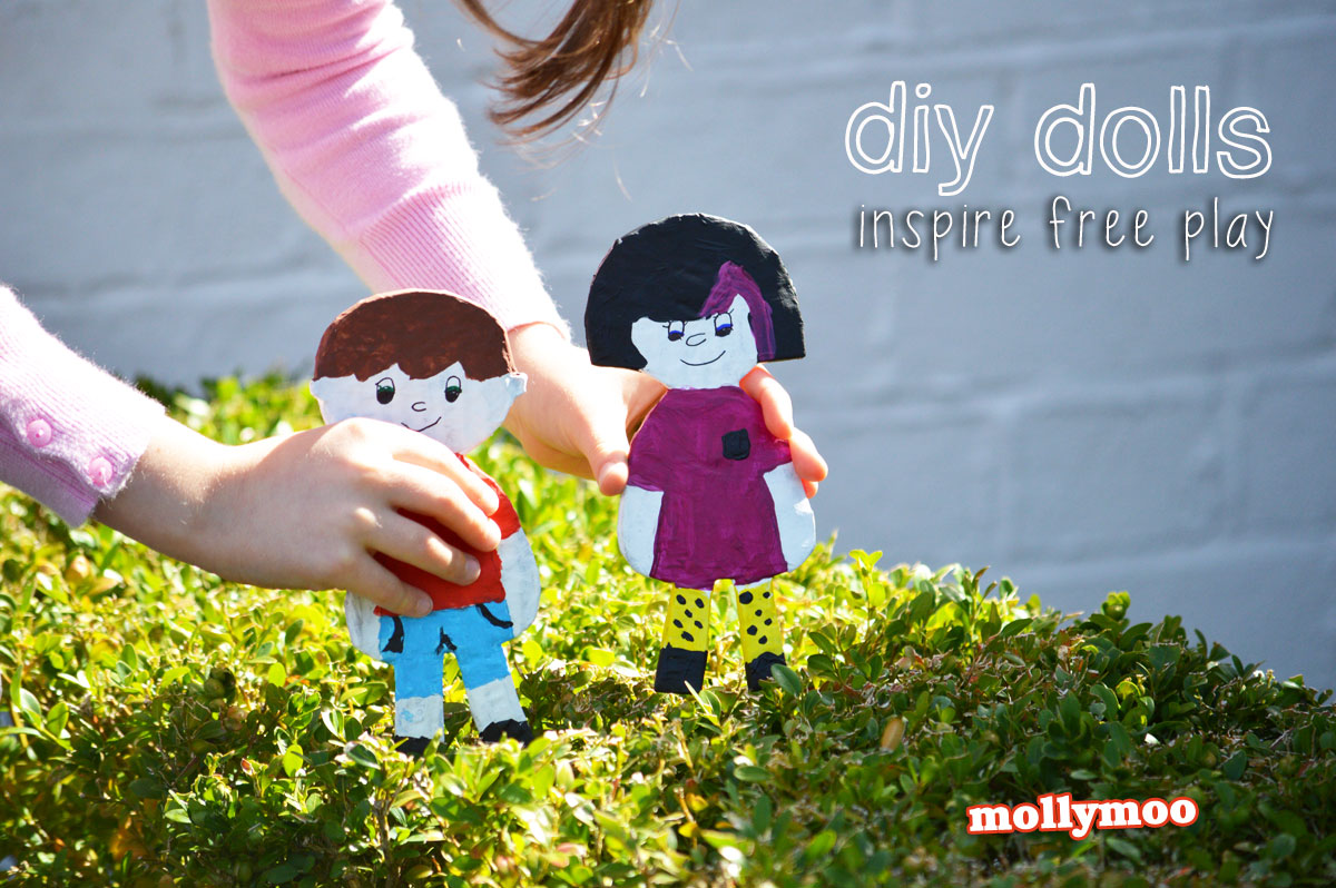 DIY Cardboard Dolls craft for kids