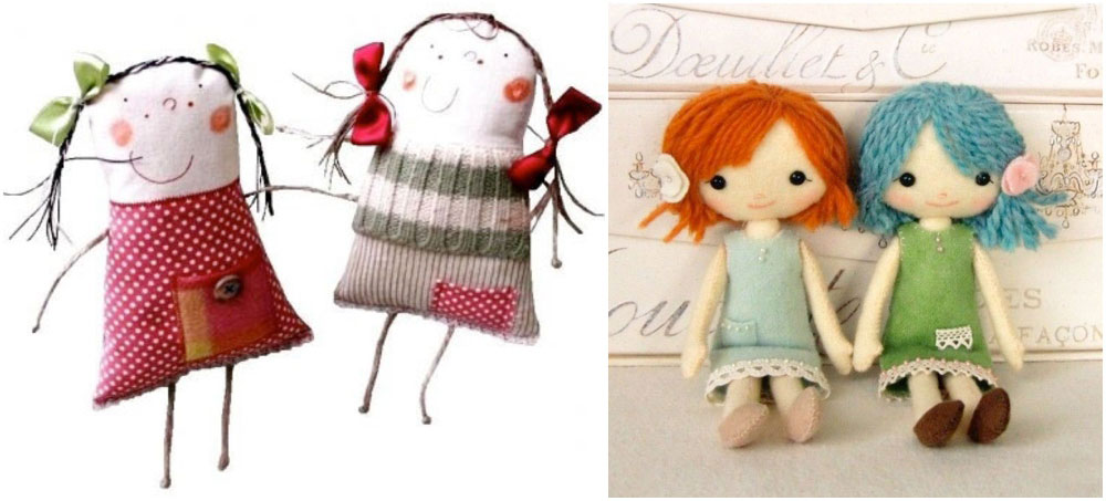handmade dolls and softies