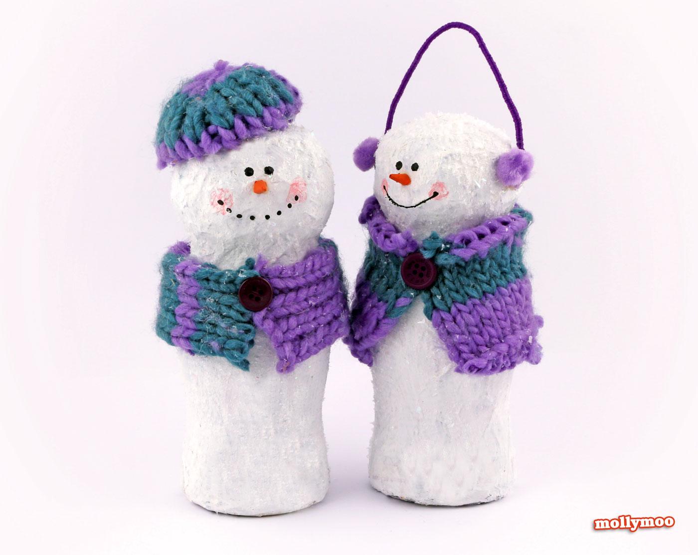 mollymoocrafts christmas crafts papier mache snowman