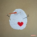 DIY Christmas Cards, Potato Printing