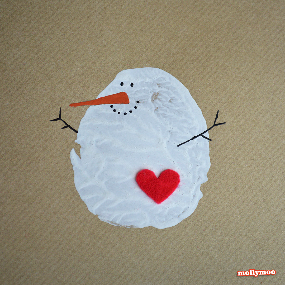 Snowman Christmas Card Diy