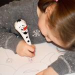 Papier Mache Snowman Pens