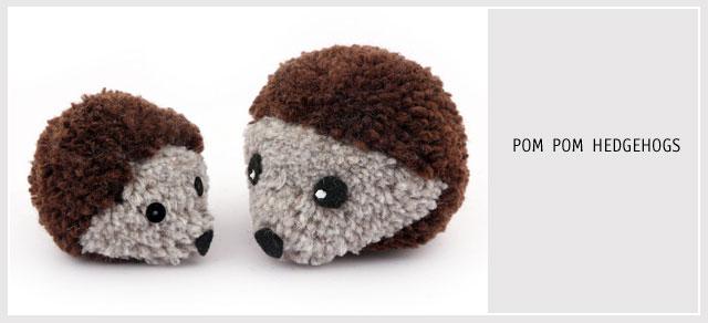 pom pom hedgehogs