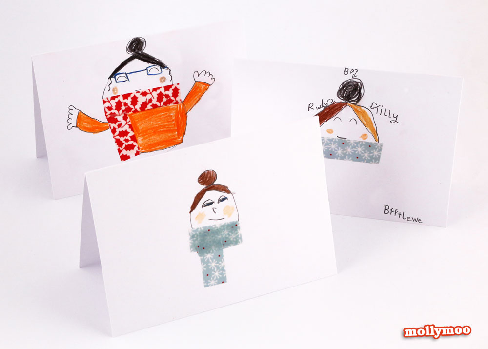 DIY winter cards by mollymoo, Michelle McInerney