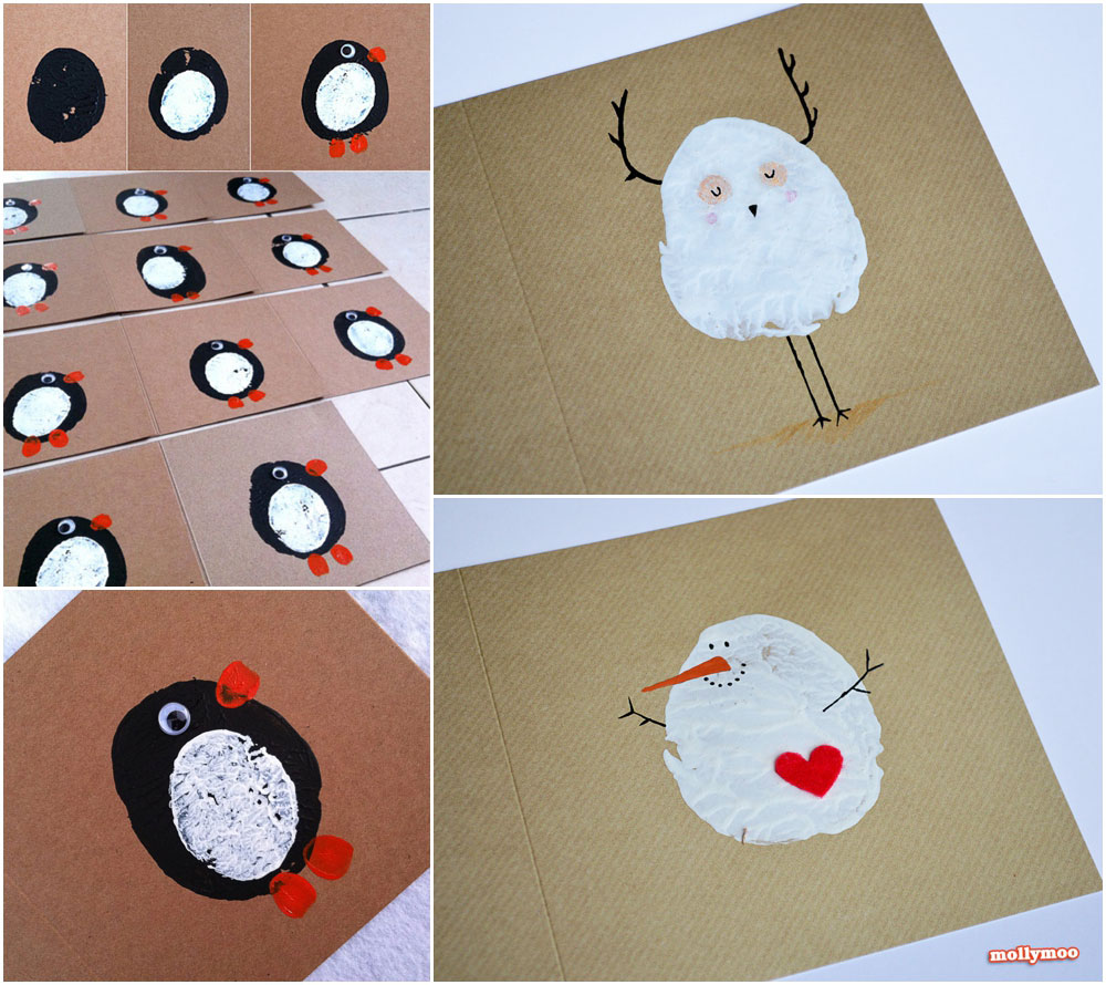 Snowman Christmas Cards Ideas.Mollymoocrafts Cute Christmas Crafts Collection