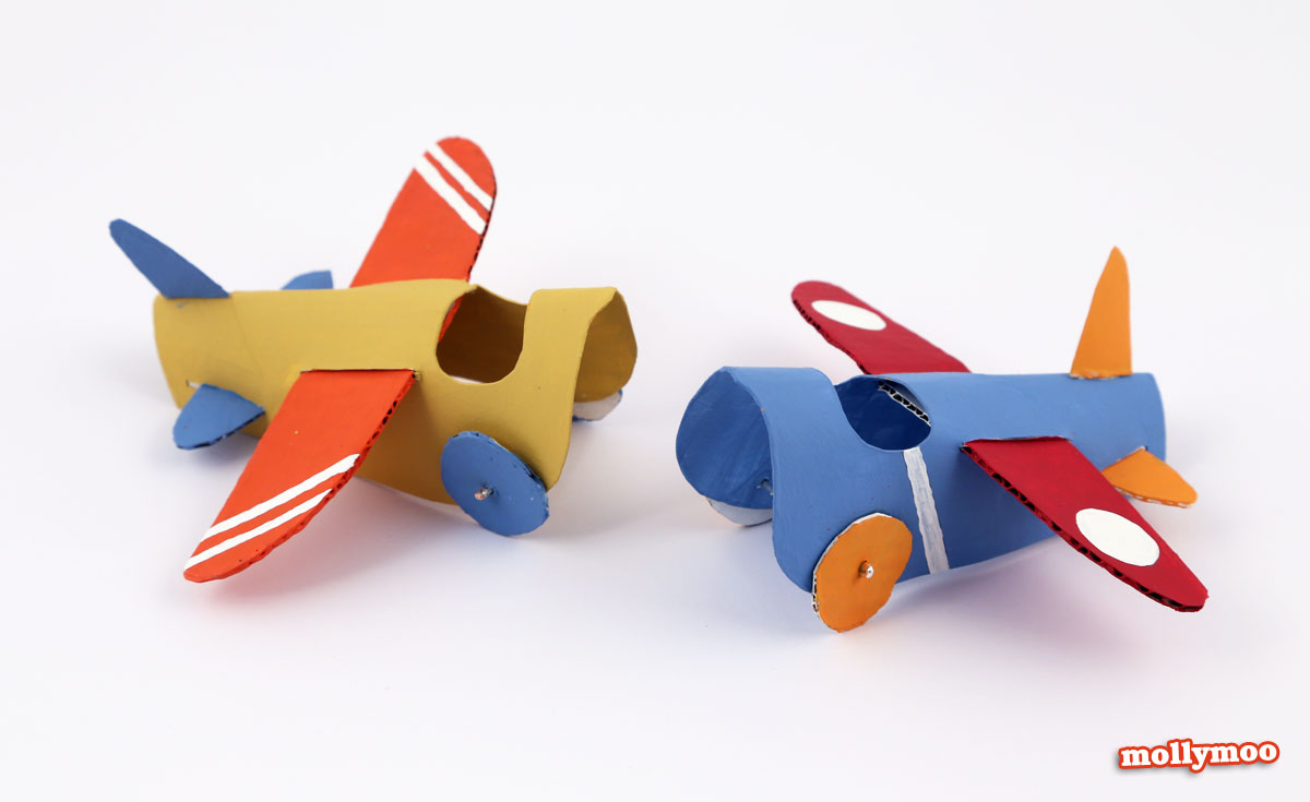 toilet roll crafts for kids, toilet roll plane, by Michelle McInerney, MollyMoo