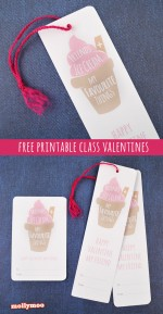 Free Printable School Valentines Day Bookmark