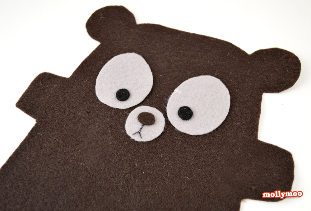 cuddly bear craft tutorial and pattern