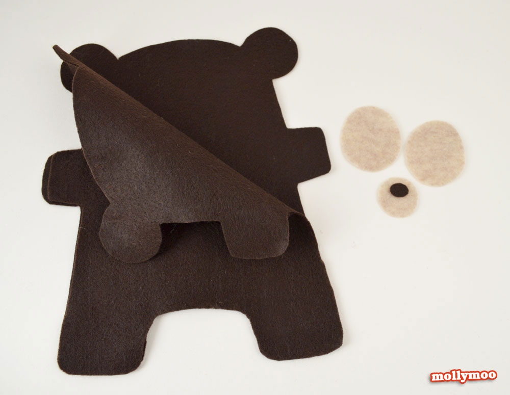 teddy bear craft tutorial and pattern
