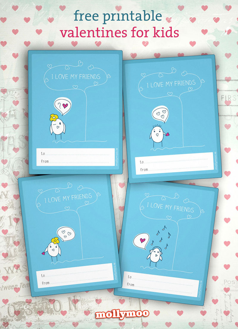 free printable valentine cards kids