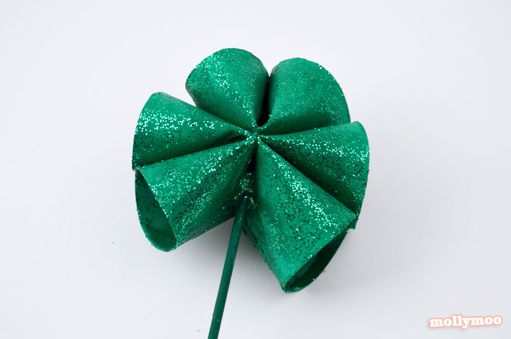 toilet roll shamrock craft for St Patrick's Day