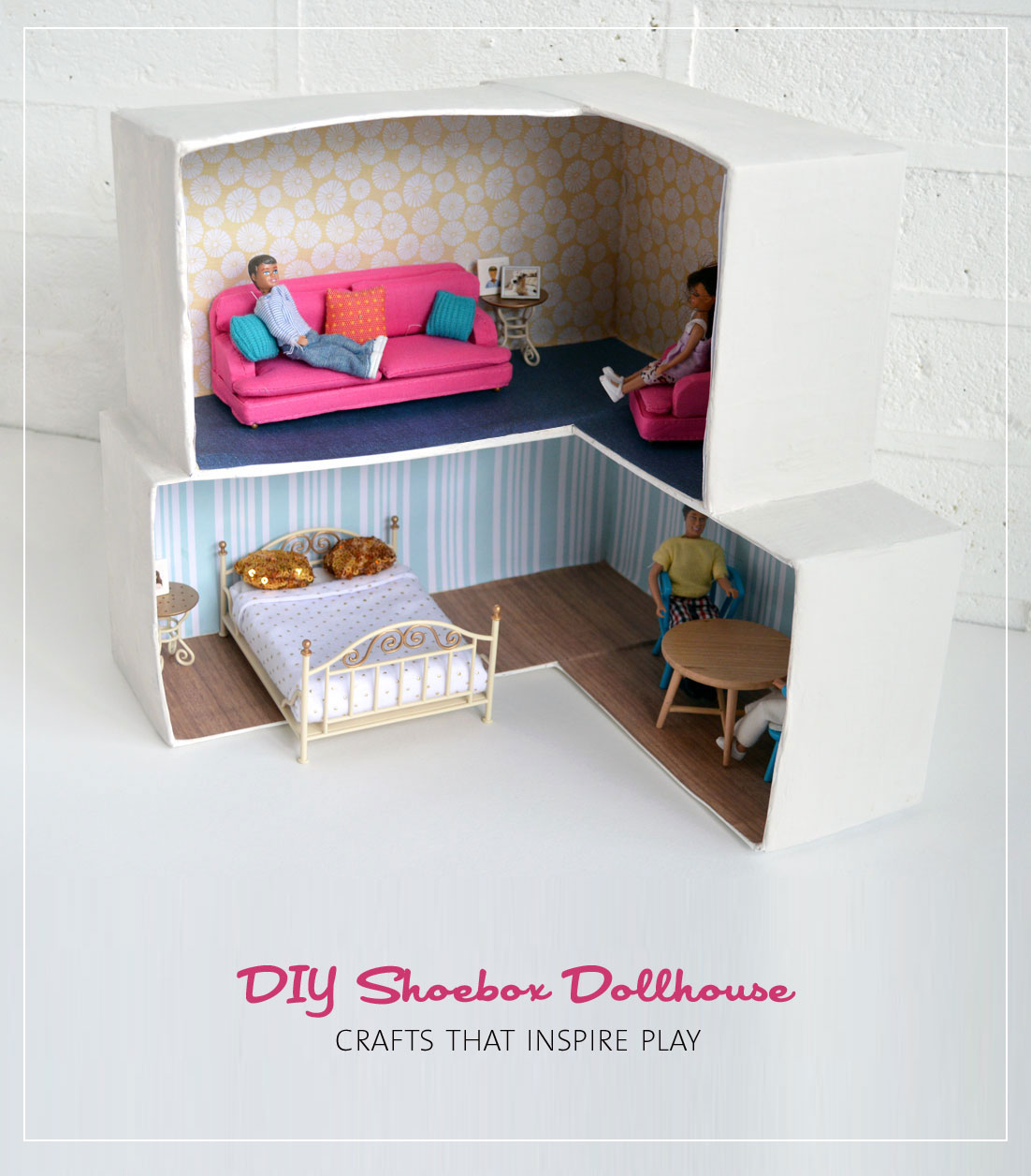 MollyMooCrafts Cardboard Crafting: DIY Dollhouse