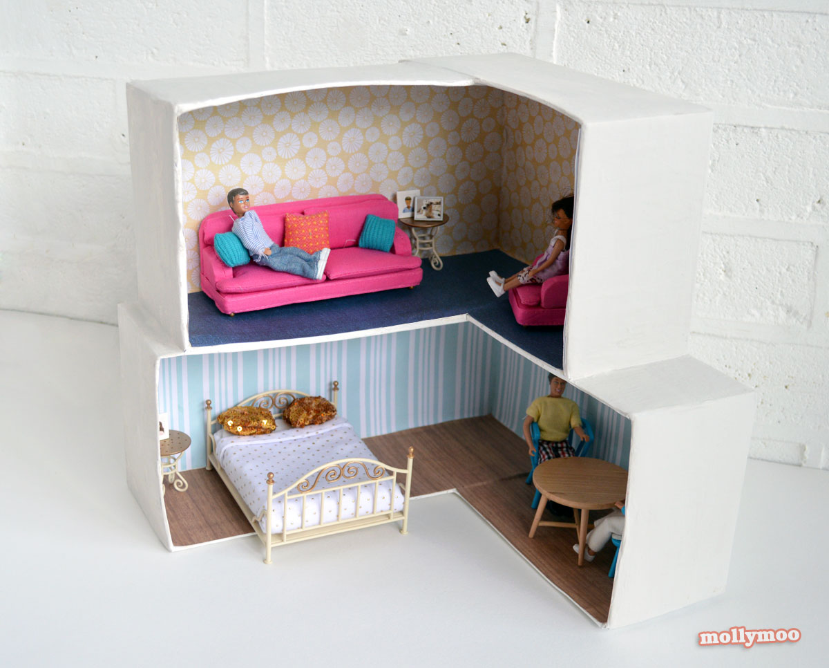 Mollymoocrafts Cardboard Crafting Diy Dollhouse Mollymoocrafts
