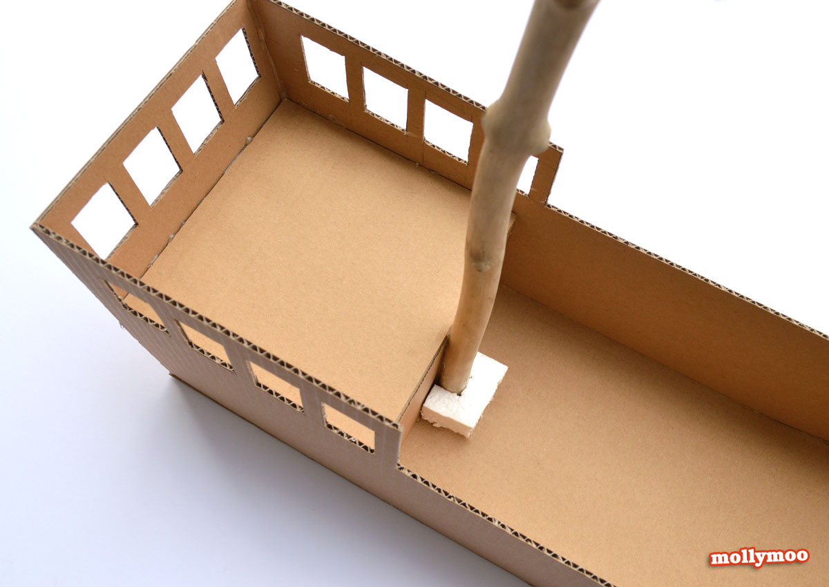 Pirate Ship Diy Cardboard Pirate Ship by