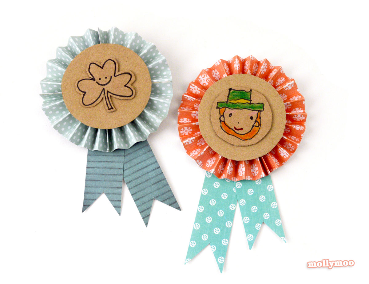 DIY st patrick's day badges